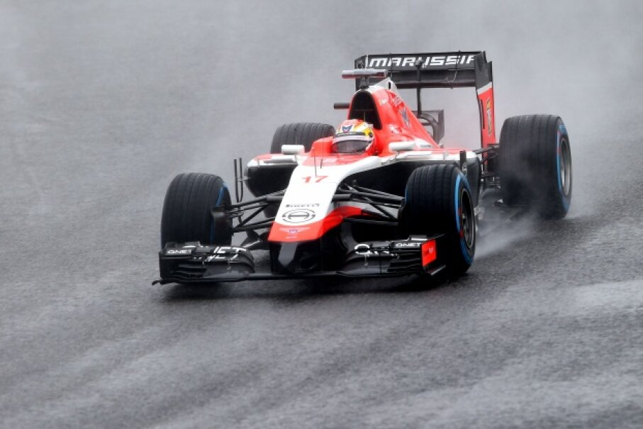 Jules Bianchi drives in the rain at the 2014 Japanese Formula One Grand Prix. Mark Thompson/Getty Images Sport/Getty Images
