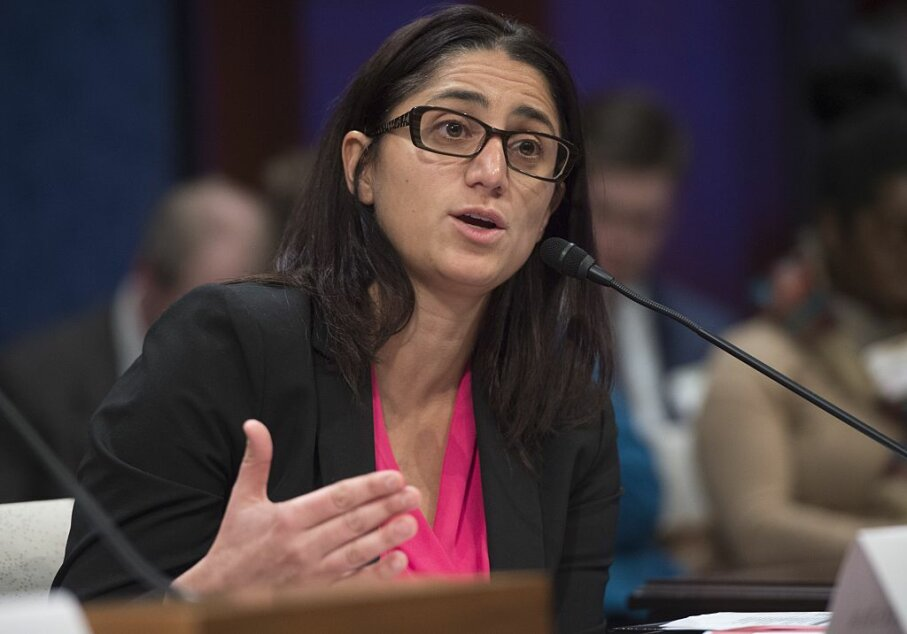 Dr. Mona Hanna-Attisha, director of the Pediatric Residency Program at Hurley Medical Center who exposed Flint, Michigan's high lead levels in the water supply, testifies during a hearing on Capitol Hill. SAUL LOEB/AFP/Getty Images