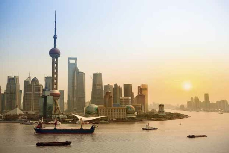 A Shanghai skyline at dusk.  China is the U.S.'s largest foreign creditor, owing more than $1 trillion of U.S. debt. iStockphoto/Thinkstock