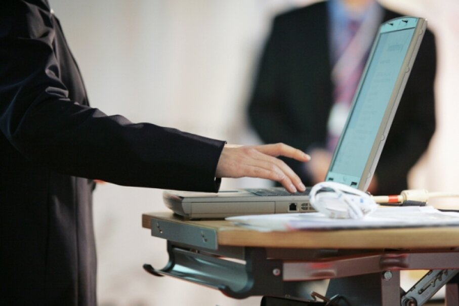 Remote log-in capability allows users to access files © Photographer: Franz Pflueg | Agency: Dreamstime