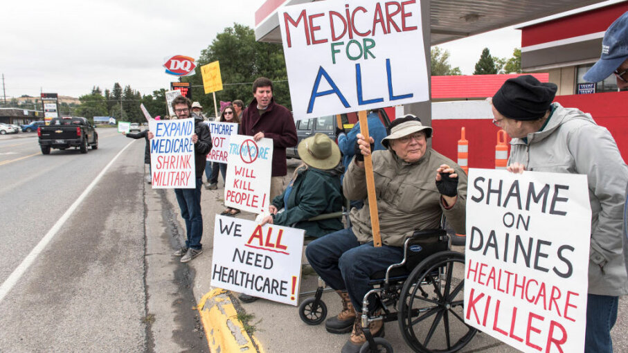 protesters, health care
