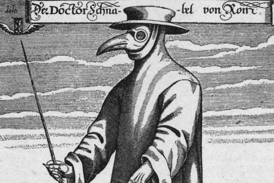 In the 1600s, this was believed to be the ideal ensemble to protect doctors from the plague.  © Hulton Archive / Handout