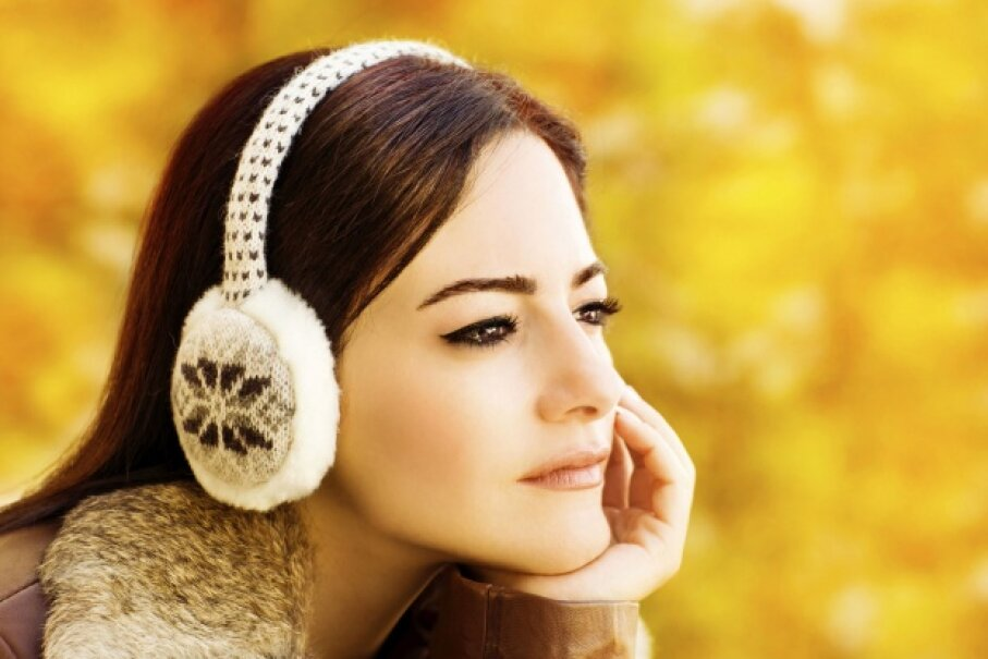 """If only I could have warm ears AND my favorite tunes."" You can! © Anna Omelchenko/iStock/Thinkstock"