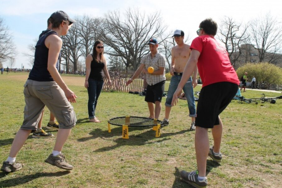 Spikeball's net looks similar to a mini-trampoline. ©Elvert Barnes Photography/Creative Commons