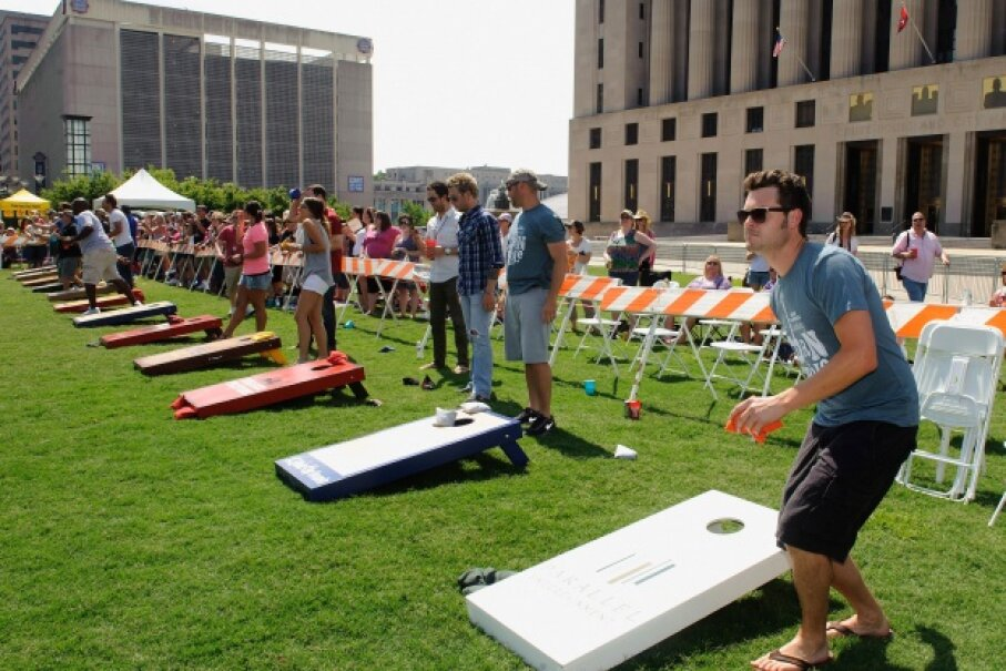 You may not realize that cornhole is incredibly popular -- as evidenced by this celebrity tournament in Nashville, Tenn. © Erika Goldring/Getty Images