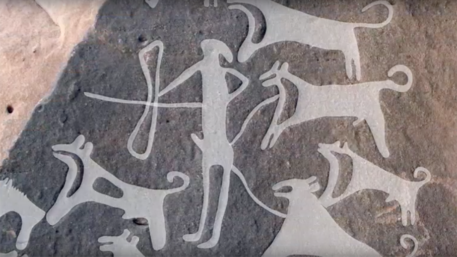 prehistoric dogs, leashes