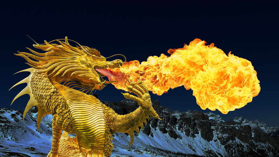 Real Fire Dragon: Do Fire-breathing Dragons Torch Their Teeth?