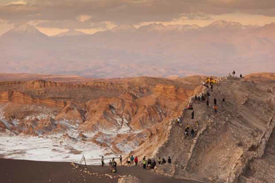 Rain has never been recorded  falling in the Atacama Desert, Chile. Yet 1 million people live there. Walter Bibikow/The Image Bank/Getty Images