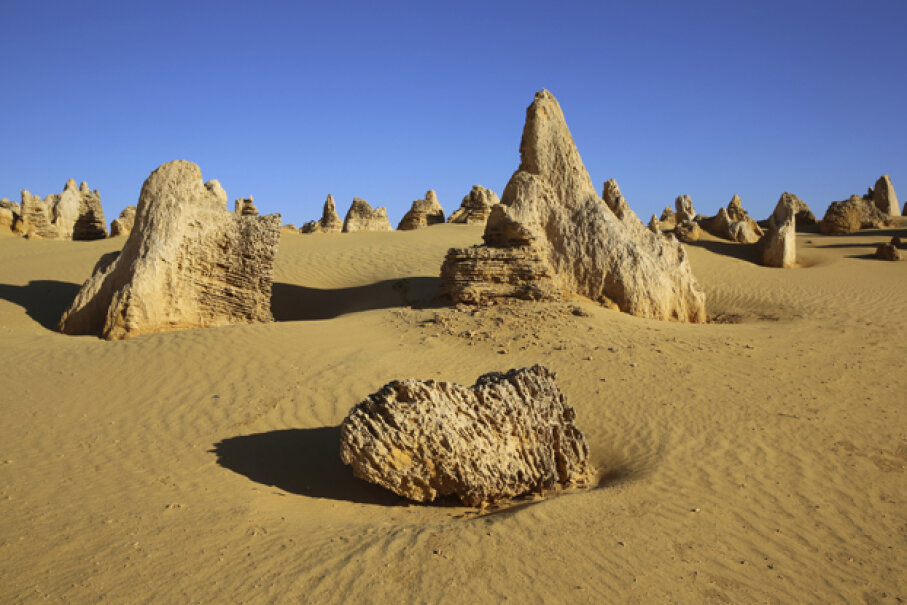 The alien-looking spires of The Pinnacles were formed from limestone worn down by rain, sun and wind over millions of years. Bernhard Richter/iStock/Thinkstock