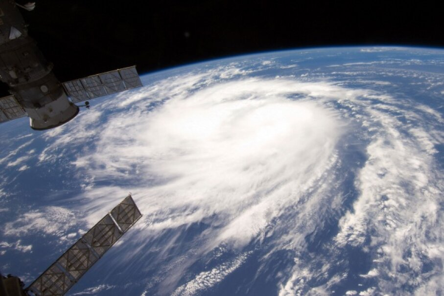 Hurricane Katia as seen from the International Space Station in August 2011 © NASA / Handout/Getty