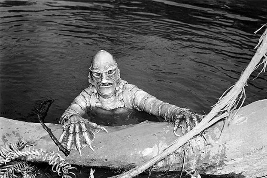 Actor and stuntman Ricou Browning did the underwater work for 'Creature From The Black Lagoon' as well as its two sequels. Silver Screen Collection/Getty Images