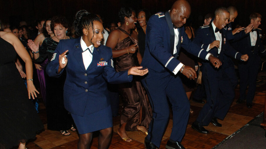 air force ball, electric slide