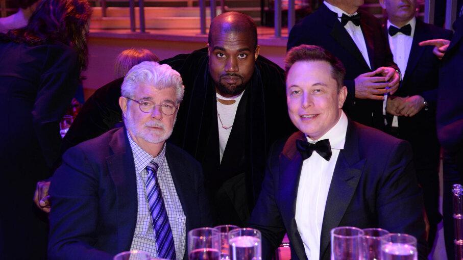 George Lucas. Kanye West, Elon Musk
