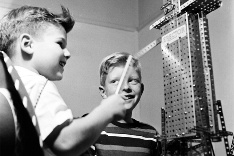 Dismayed by the focus on boys she saw in the marketing of traditional engineering toys (like the pictured Erector Set), Debbie Sterling founded Goldieblox to bring more girls into engineering. Rae Russel/Getty Images