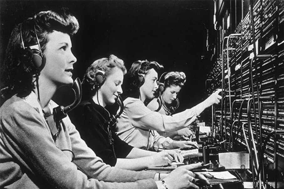 Party line operators no longer exist and switchboard operators are also declining, but in the 1940s both were in great demand. Hulton Archive/Getty Images)