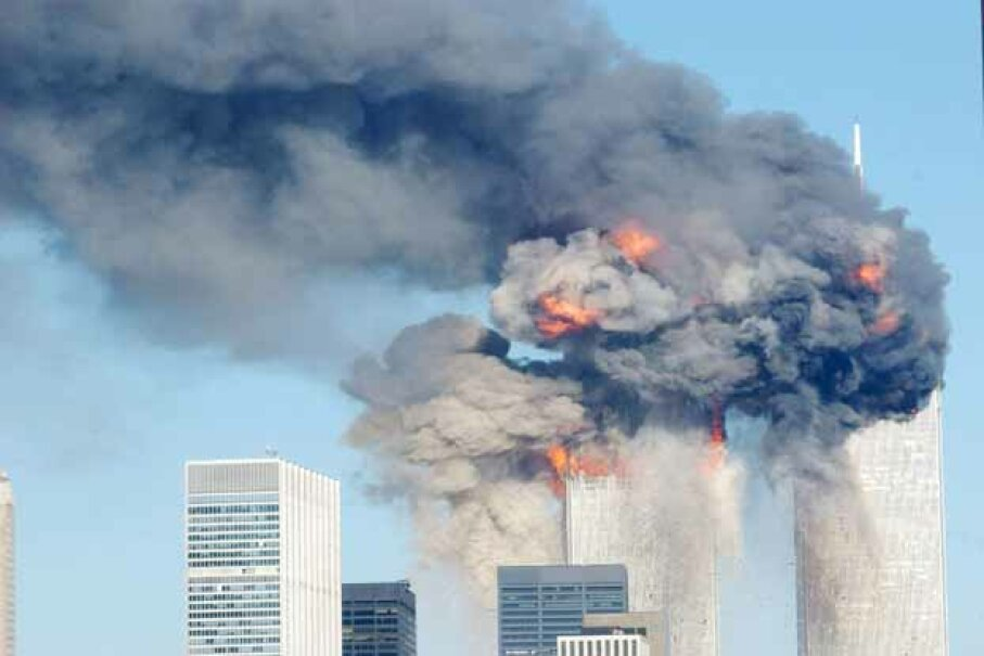 """Many believe the World Trade Center bombing was part of a vast conspiracy even though there's no proof.  Says author Michael Shermer, """"How could 19 nobodies …bring down the most powerful nation in the world? But that's exactly how it did happen."""" Spencer Platt/Getty Images"""