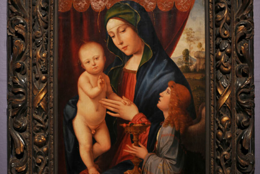 """The forged version of """"The Virgin and Child with an Angel."""" © BEN STANSALL/AFP/Getty Images"""
