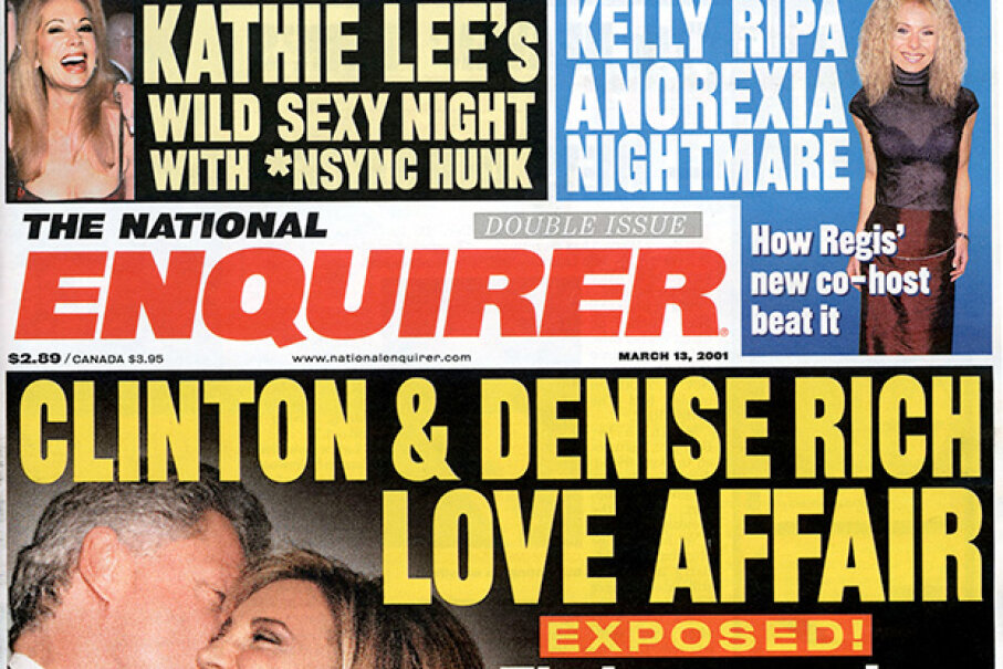 A National Enquirer from 2001: Some publications are full of untrustworthy stories. Newsmakers/Getty Images
