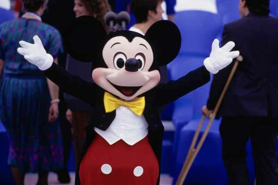 Hey Mickey, how many DVDs do you have in the Disney Vault? That many?  © Steve Starr/CORBIS