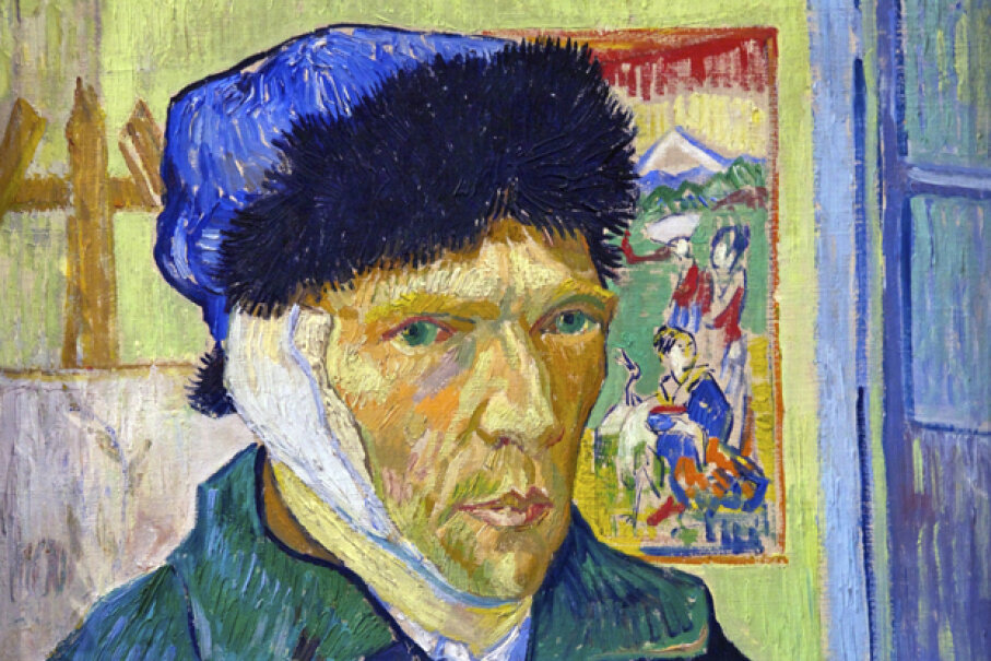 Vincent van Gogh painted this self portrait some time after fellow painter Paul Gauguin allegedly sliced off part of his ear during a bitter quarrel. Peter Barritt/SuperStock/Getty Images