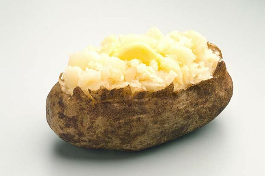 You can avoid the potato skin and still get lots of nutrition. Jupiterimages/Photos.com/Thinkstock