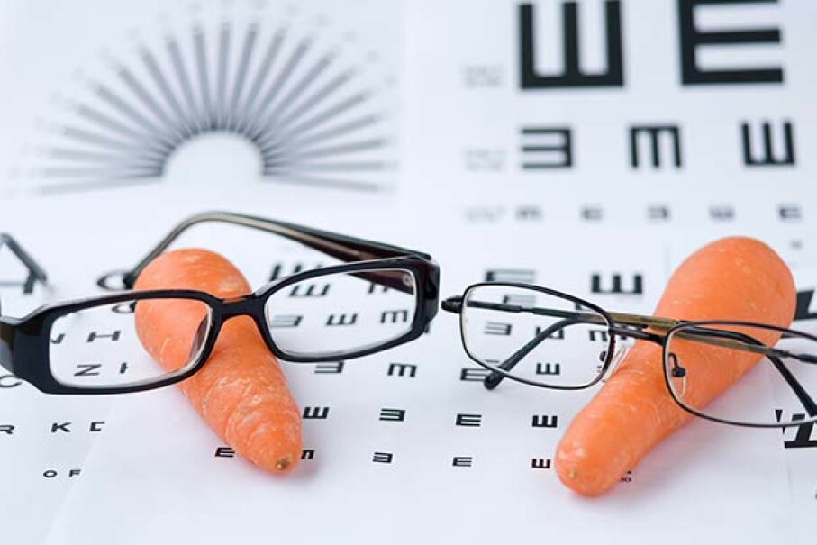 Do carrots really help you to see better or is that just a myth? yungshu chao/iStock/Thinkstock