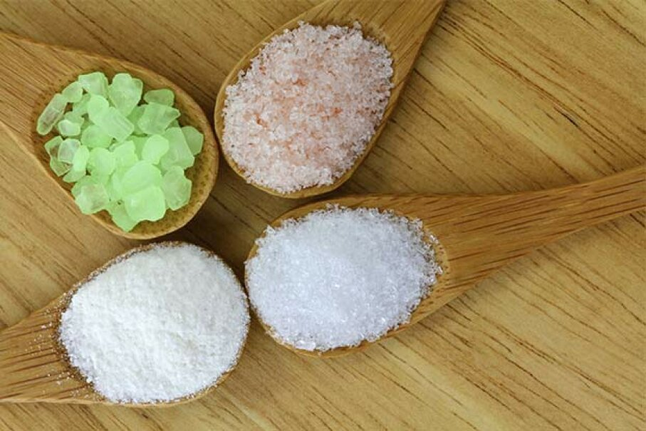 Sea salt come in a variety of colors and textures, but it's not healthier than regular table salt. sasimoto/iStock/Thinkstock