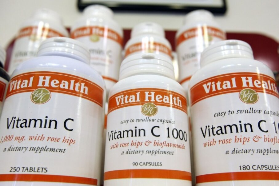 Downing vitamin C won't stop you from getting a cold. Justin Sullivan/Getty Images