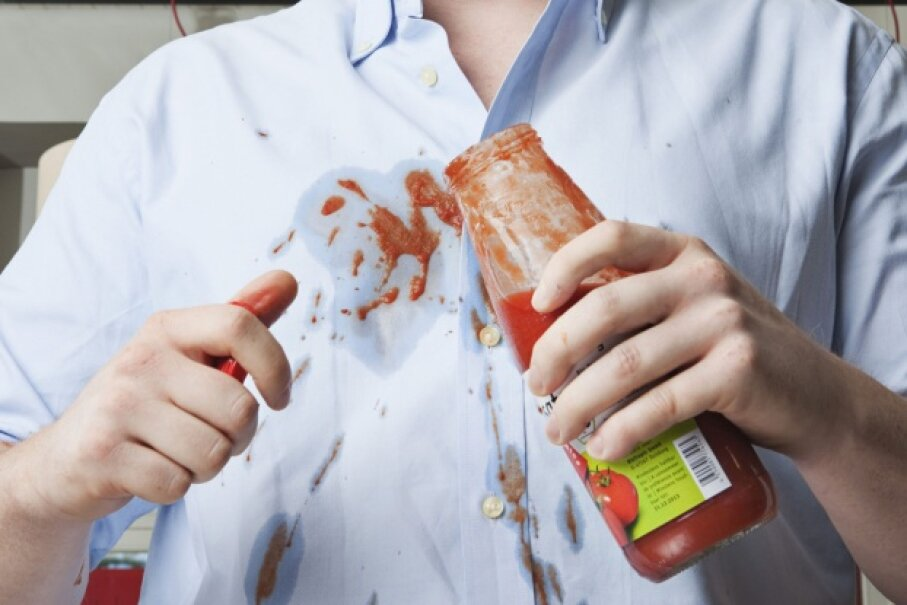 Everyone's had one of these moments. Thankfully, most stains don't merit a place in the history books. © Rainer Holz/Corbis