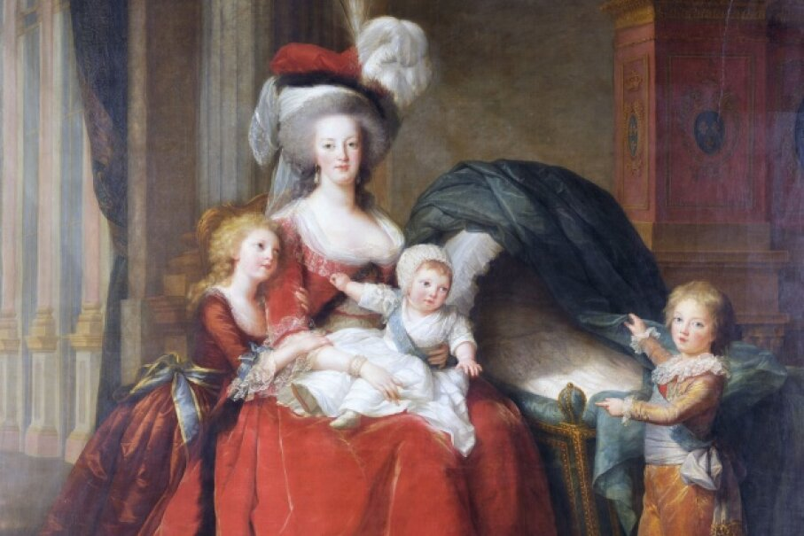 A portrait of signature-bungler Marie-Antoinette and her children, painted by Elisabeth Vigee-Lebrun © Corbis