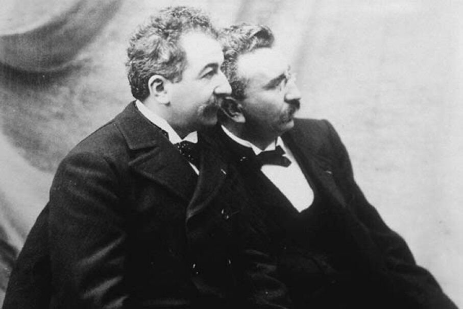 Louis and Auguste Lumière made the first motion picture ever screened. © Sygma/Corbis
