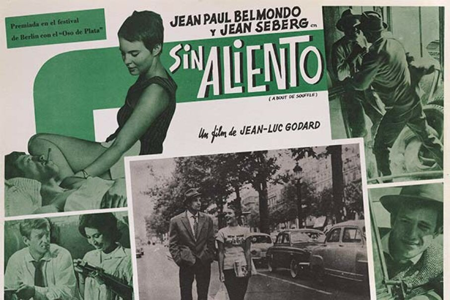Jean-Luc Godard's 1960 drama 'Breathless' was titled 'Sin Aliento' in Spanish and 'À Bout de Souffle' in its original French. The titles all mean the same thing. Movie Poster Image Art/Getty Images