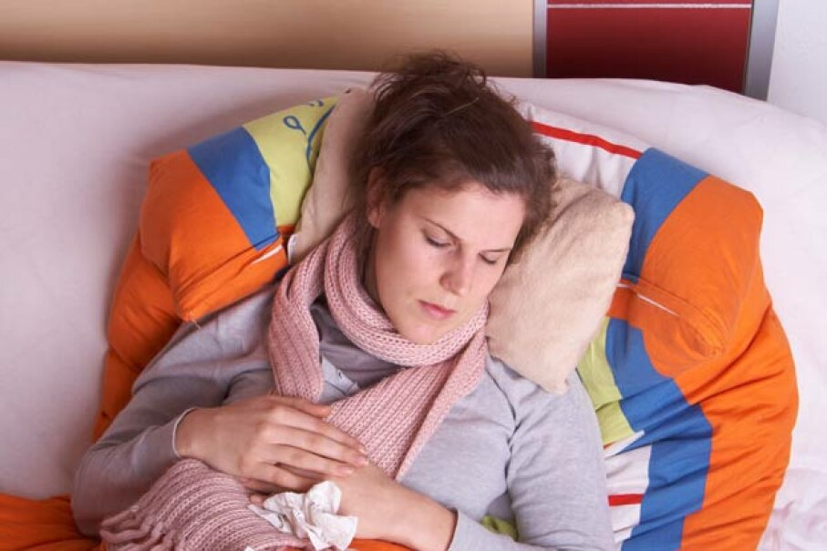 The most common month for catching the flu is February, not December. iStockphoto/Thinkstock