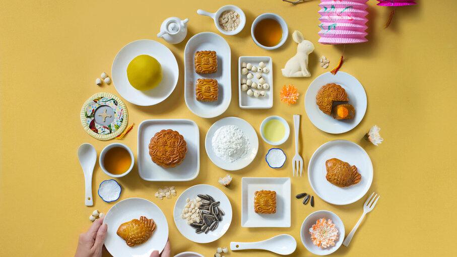 array of food