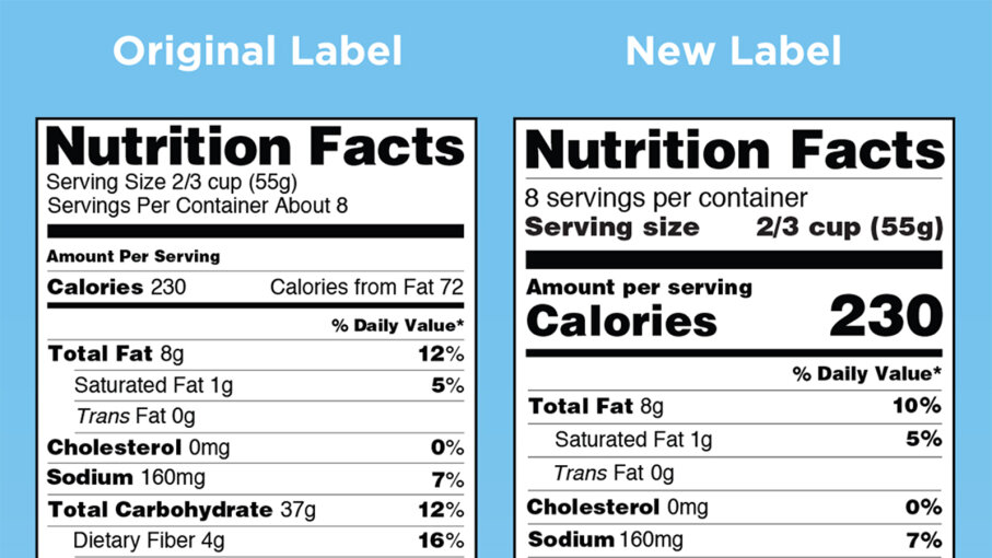 FDA, new food label