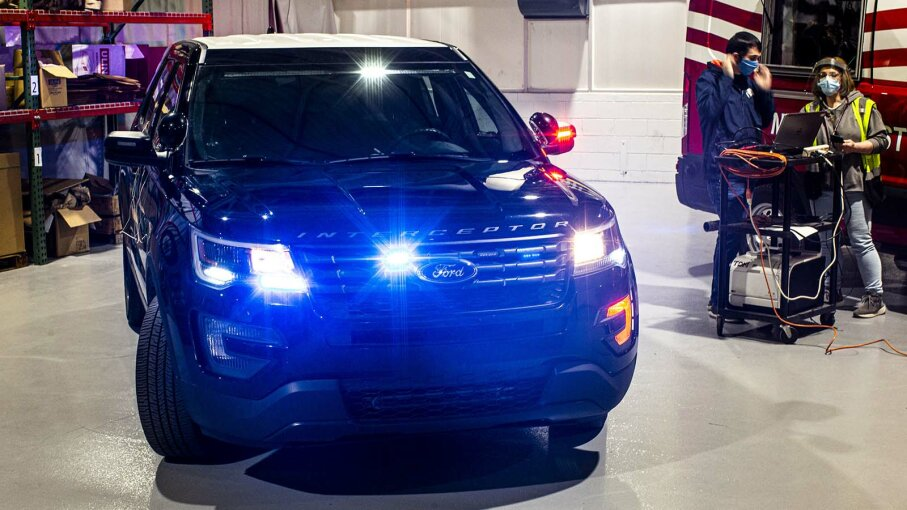 ford sanitize police cars