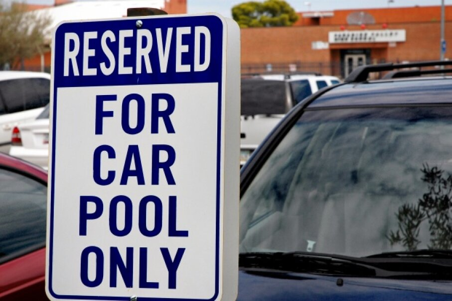 Your own special parking spot if you carpool. Cool. iStockphoto/Thinkstock