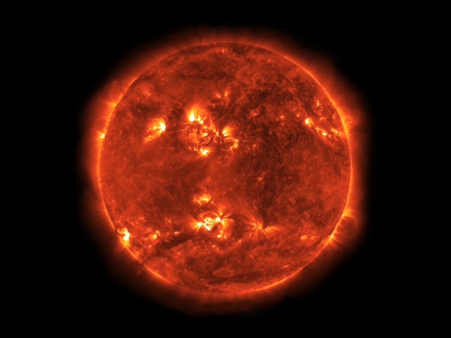 A coronal mass ejection could cause large-scale power outages and starvation. © NASA/Bryan Allen/Corbis