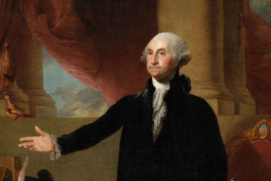 George Washington: founding father, lover of frozen desserts. © Corbis