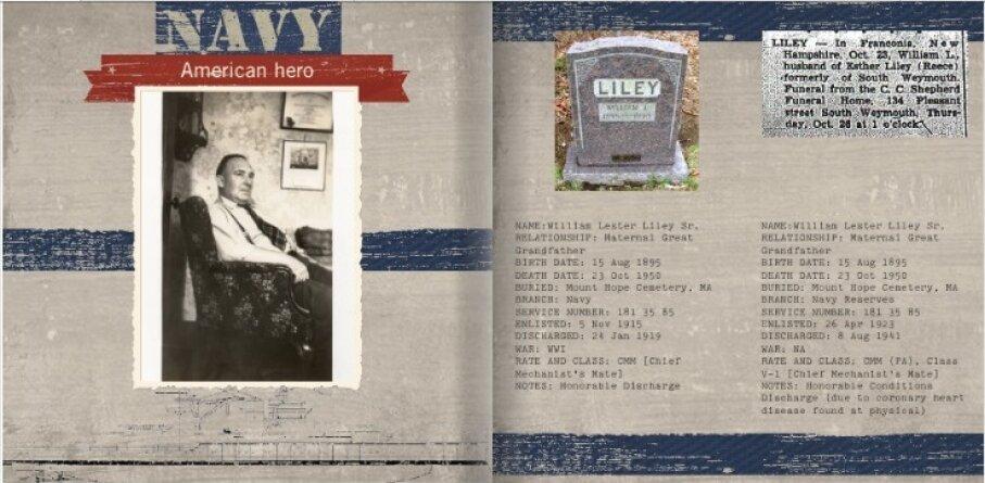 navy album