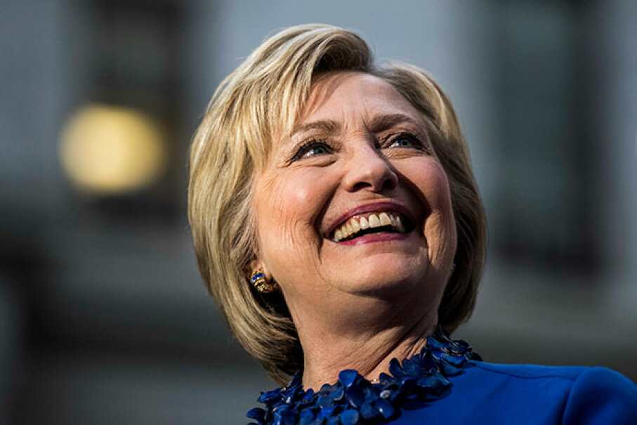 Former Democratic nominee for president Hillary Clinton came close to ending the all-male fraternity of U.S. presidents. Justin Sullivan/Getty Images