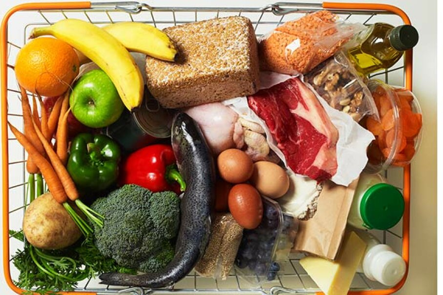 All the foods pictured in this basket are naturally gluten-free. William Shaw/Dorling Kindersley/Getty Images