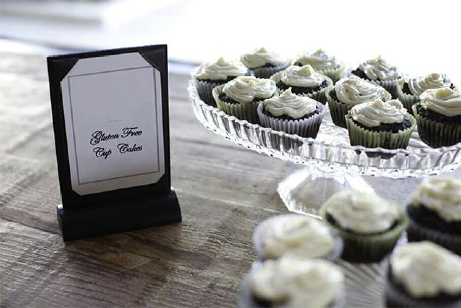 Gluten-free cupcakes are no more nutritious than regular cupcakes. In fact, they might be less, because flour is usually enriched with vitamins. Alison Aliano/Photolibrary/Getty Images