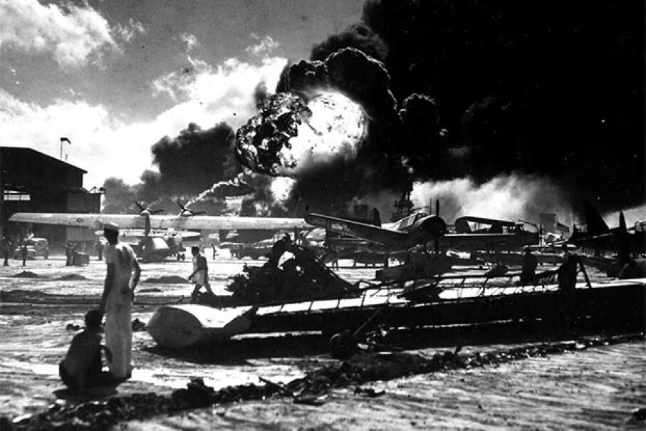 Japan landed a devastating attack on Pearl Harbor in 1941. But there's no proof that the U.S. government knew of this in advance. Photo12/UIG via Getty Images