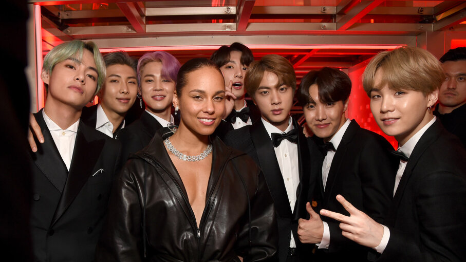 Alicia Key and BTS, Grammys