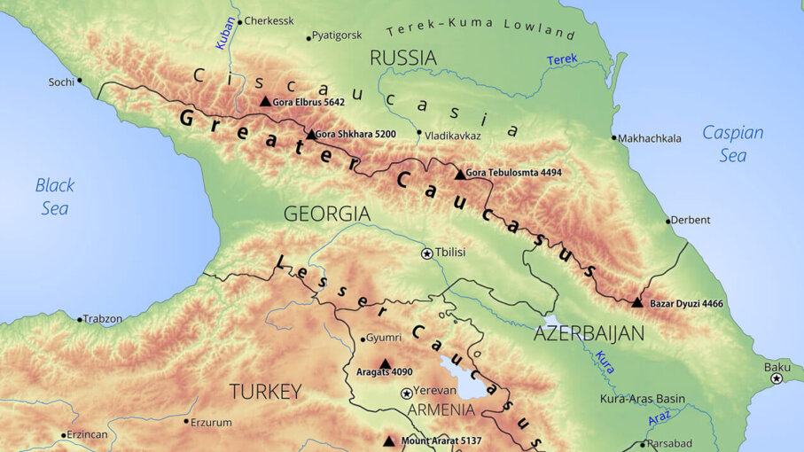 Greater Caucacus region