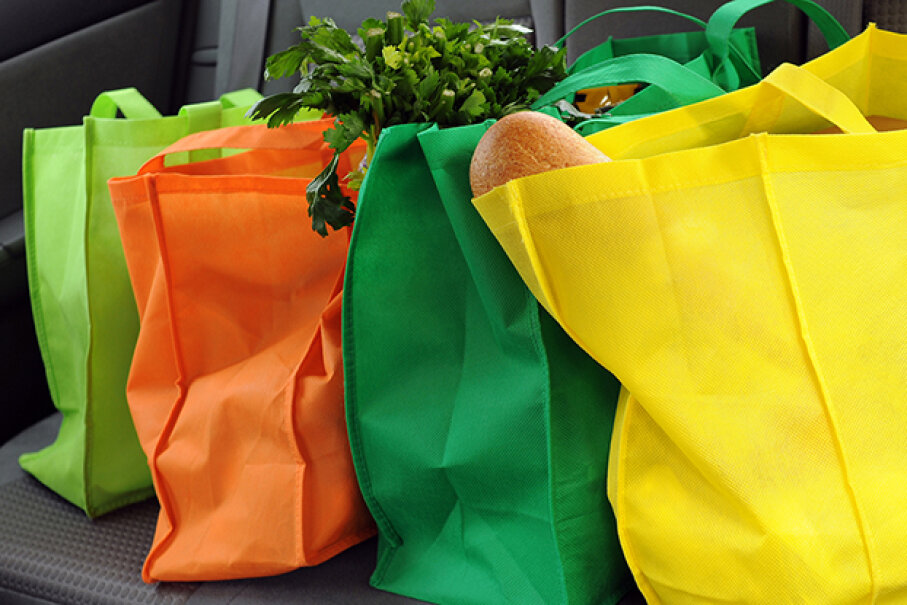 Rather than contributing to trash heaps near and far, try remembering your reusable totes next time. Glenda Powers/iStock/Thinkstock