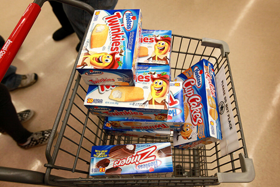 There are probably plenty of reasons someone would be buying a cart full of Twinkies! Scott Olson/Getty Images News/Thinkstock