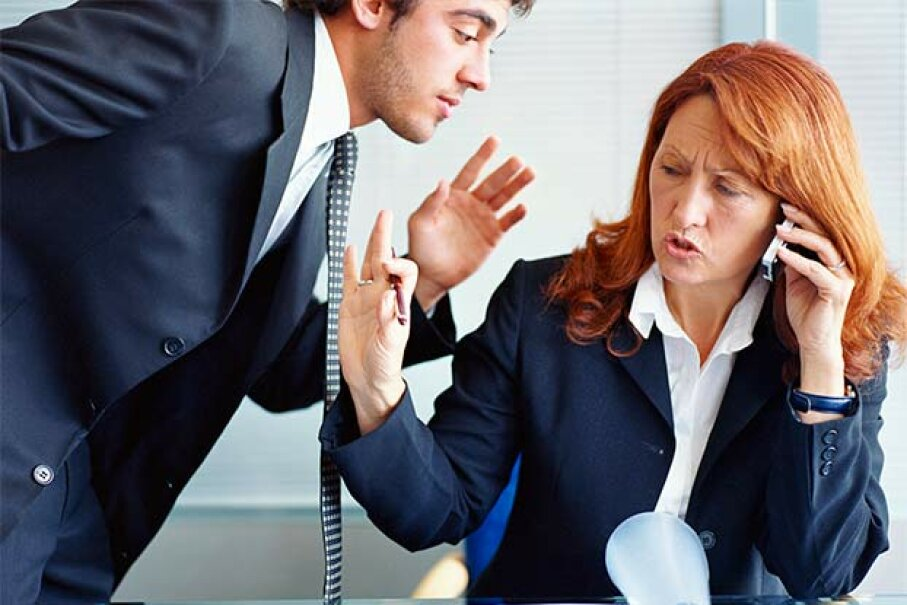 """""""Talk to the hand!"""" Why do some people always interrupt? Creatas/Thinkstock"""
