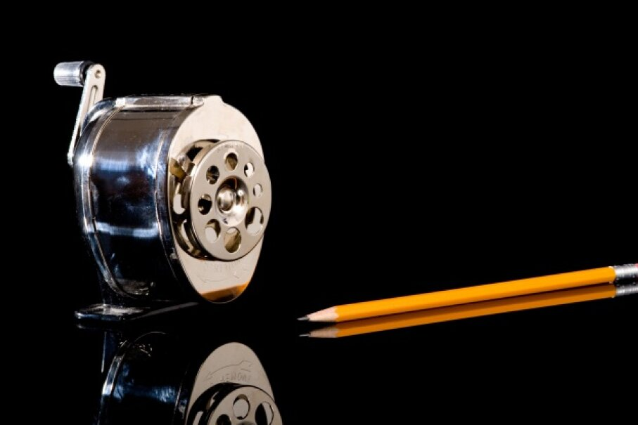 Sharpened pencils are deeply satisfying. Consider an electric sharpener if you're wary of meeting microbes on a manual one. Hemera/Thinkstock